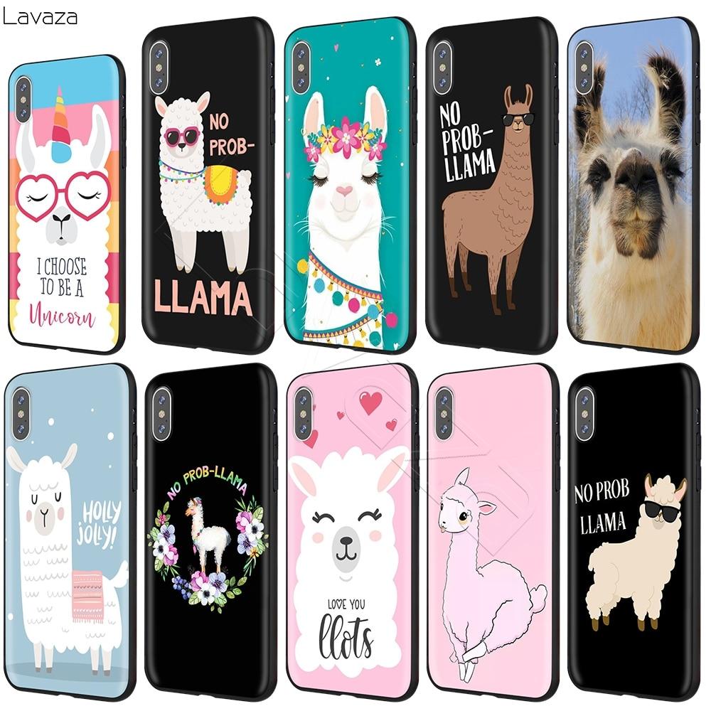 Lavaza No Prob Lama Llama Alpacas Case for iPhone 11 Pro XS Max XR X 8 7 6 6S Plus 5 5s se