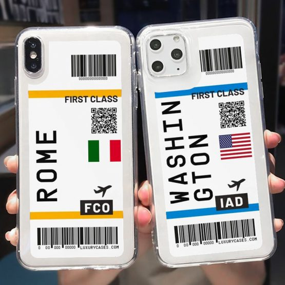 Cute FIRST CLASS PLANE TICKET Phone Case For iPhone 11Pro Max 7 8 Plus Cute FIRST CLASS PLANE TICKET Phone Case For iPhone 11Pro Max 7 8 Plus X XR XS Max Flight Ticket Letter Soft Silicone Back Cover.