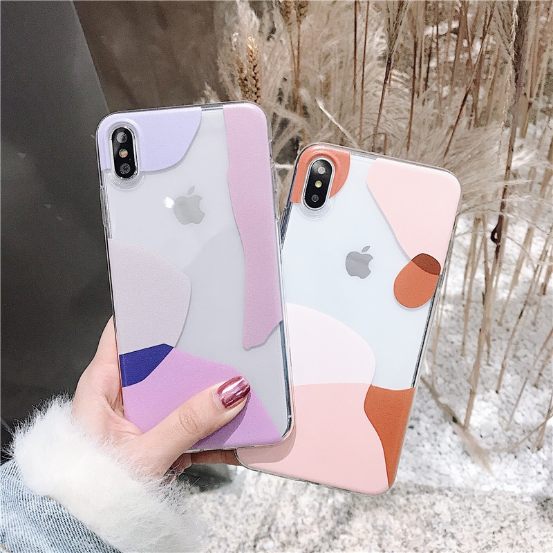 Abstract transparent women case for iPhone 7 8 plus 11 Pro soft tpu cover for iPhone xsmax xs xr x clear silicone phone cases 10