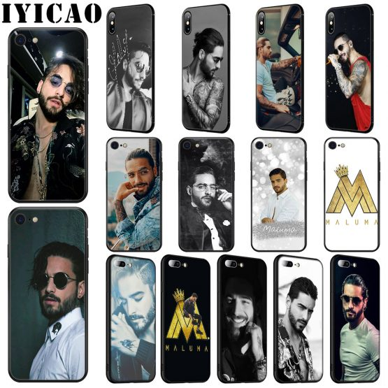 IYICAO Singer Maluma Soft Silicone Case for iPhone 11 Pro Max XR X XS Max 6 6S 7 8 Plus 5 5S SE Phone Case