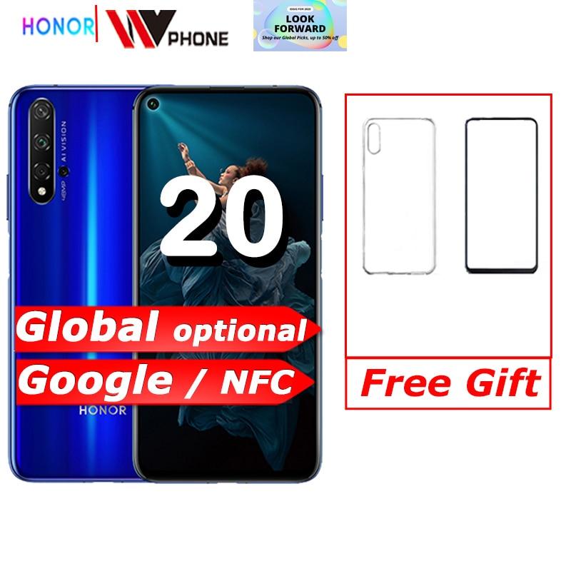 Honor 20 honor 20 pro NFC Mobile Phone Kirin 980 Android 9.0 6.26 inch Screen 3750mAh Battery Smartphone