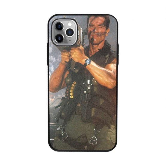 Machine Gun Terminator black phone Case for iphone 11 Pro max Promax Arnold Schwarzenegger Funny