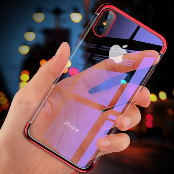 Electroplated Case For iPhone 7 8 6 6s s Plus Luxury Transparent Soft Silicon Electroplated Case For iPhone 7 8 6 6s s Plus Luxury Transparent Soft Silicon Plating Cover For iPhone X XR XS Max Shell 11 Pro.