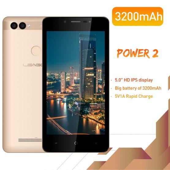 "LEAGOO POWER 2 Face ID Fingerprint Smartphone 2GB+16GB Dual Camera LEAGOO POWER 2 Face ID Fingerprint Smartphone 2GB+16GB Dual Camera 3200mAh Android 8.1 MT6580A Quad Core 5.0"" HD Mobile Phone."