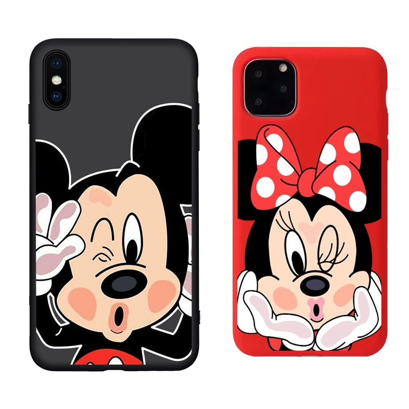 Minnie Mickey Case Ultrathin Soft TPU Toy Cover for iphone 6 6s 7 8 plus X XR XS MAX 11 11ProMAX Cartoon