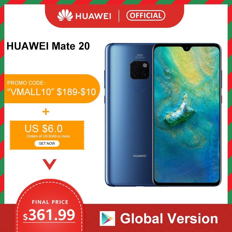 Global Version Huawei Mate 20 6GB 128G Smartphone 6.53 inch Mobile Phone Kirin 980 NFC Kirin 980 Octa Core EMUI 9.0 4000mAh