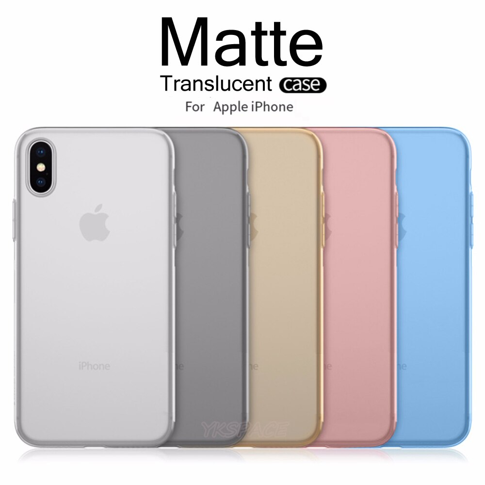 Ultra Thin 0.3mm Translucent Matte Phone Case For iPhone X XR XS 11 Pro Max 2019 6 6s 7 8 Plus Frosted Smooth Hard PC Cover Slim