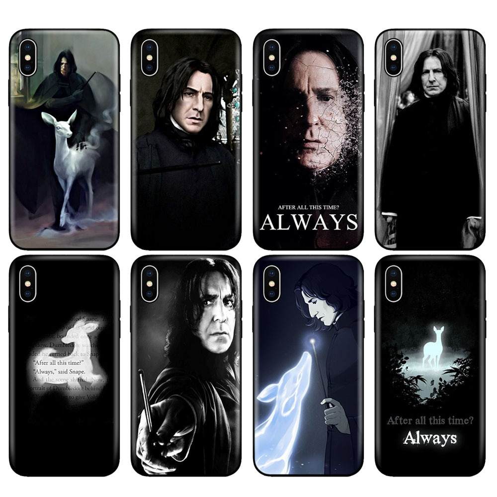 Black tpu case for iphone 5 5s se 6 6s 7 8 plus x 10 case silicone cover for iphone XR XS 11 pro MAX case snape deer always
