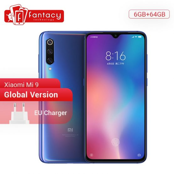 "Global Version Xiaomi Mi 9 Mi9 6GB RAM 64GB ROM Snapdragon 855 Octa Core 6.39"" AMOLED FHD+ Smartphone 48MP Triple Cameras"