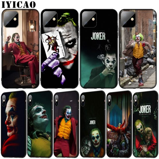 joker Joaquin Phoenix Soft Silicone Cover Case for iPhone 11 Pro XR X XS Max 6 6S 7 8 Plus 5 5S SE Black Phone Case
