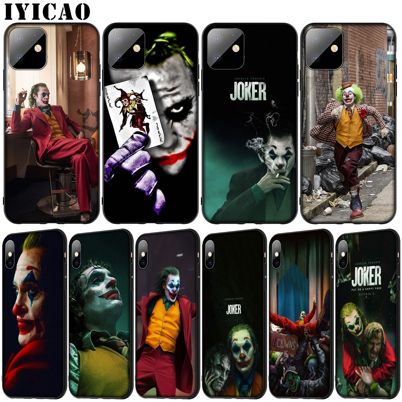 joker Joaquin Phoenix Soft Silicone Cover Case for iPhone 11 Pro XR X XS Max 6 6S 7 8 Plus 5 5S SE Black Phone Case