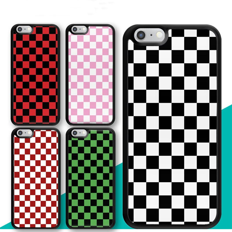 Checkerboard Plaid Checked Checkered Phone Case for iphone 11 11pro 11promax X XR XS MAX 6 6s 7 8 Plus TPU Cover Coque