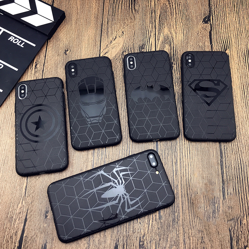 Marvel case for iphone X 11 PRO XS MAX XR 8 7 6 6s plus phone cover soft matte 3d silicon iron Man Spiderman Avengers coque CASE