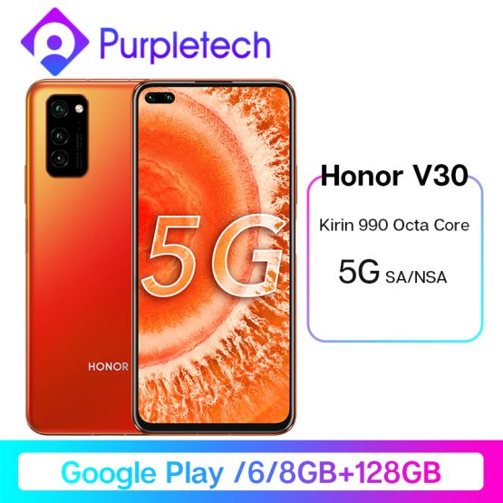 Honor V30 View 30 5G Smartphone Google Play Kirin990 7nm Octa core 16Core GPU 40mp AI Triple Camera 40W SuperCharge Android 10