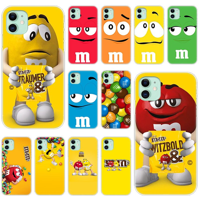 Hot M&M's Chocolate Nutella Bottle Soft Silicone Case for Apple iPhone 11 Pro XS Max X XR 6 6s 7 8 Plus 5 5s SE Fashion Cover