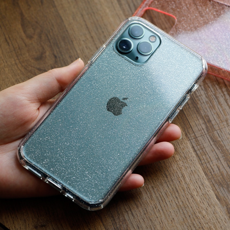 Bling glitter armor Case for iphone 11 11Pro Max X XR XS Max 7 8 7Plus Transparent hard PC phone case cover Protective shell