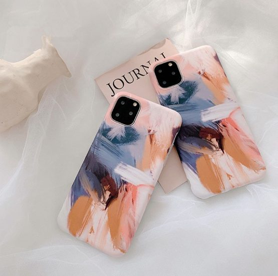 Art Oil Painting Case For iPhone 11 11Pro Max XS Max XR X 7 8 Plus Phone Case Art Oil Painting Case For iPhone 11 11Pro Max XS Max XR X 7 8 Plus Phone Case Abstract Soft Back Cover Fundas Coque.