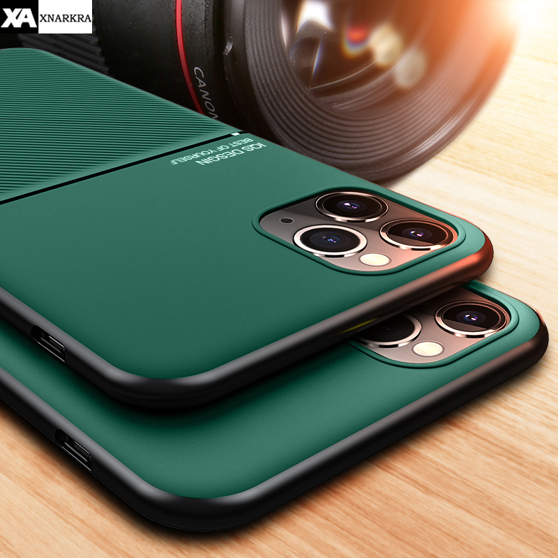 Luxury Silicone Protective Case For iPhone 11 Pro XS MAX XR X With Magnetic Car Holder Soft Cover For iPhone 7 8 6 6S Plus Coque