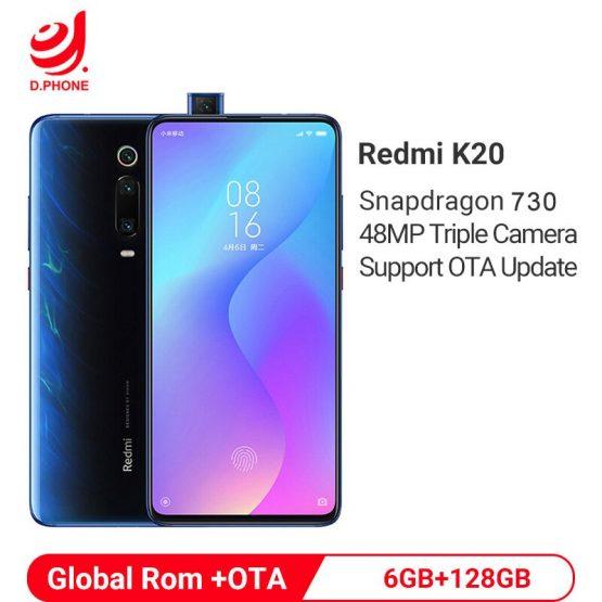 "Support OTA Update Global Rom Xiaomi Redmi K20 6GB 128GB Snapdragon 730 Octa Core 4000mAh 48MP Camera AMOLED 6.39"" Smartphone"