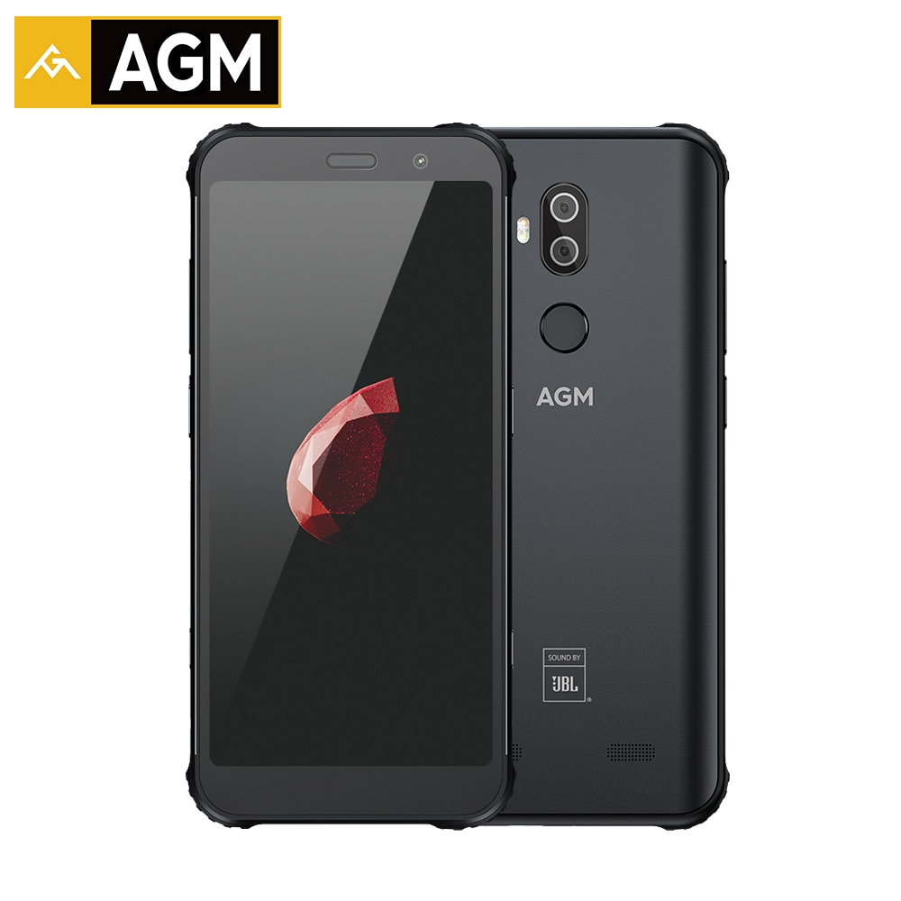 """AGM X3 6GB 64GB IP68 Android 8.1 Snapdragon 845 5.99"""" Rear 12MP+24MP Front 20MP Camera Fingerprint NFC Waterproof Smartphone"""