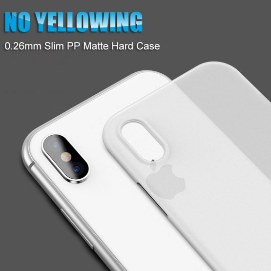 0.26mm Ultra Thin Phone Case For Iphone Xr Xs Max X 8 7 6 6s Plus Matte Transparent Hard Case For Iphone 11 Pro Max Back Cover