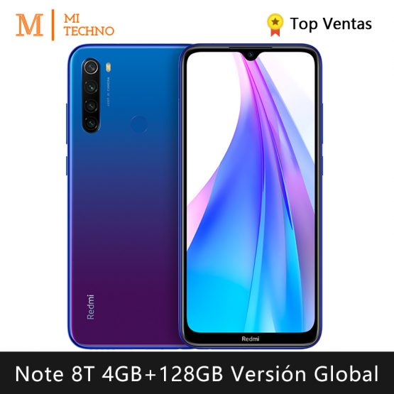 Xiaomi Redmi Note 8T Smartphone(4GB RAM 128GB ROM NFC Free mobile phone new cheap android batería4000mAh) [Global Version]