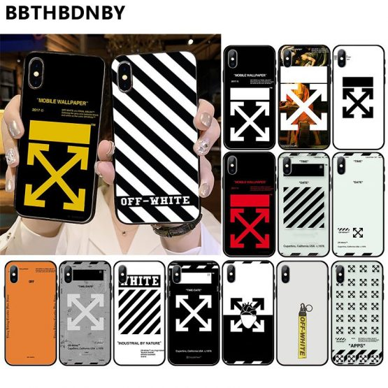 off and white For iphone 11 capas para Arrived Black New Design Shell for iPhone 11 pro XS MAX 8 7 6 6S Plus X 5 5S SE XR case