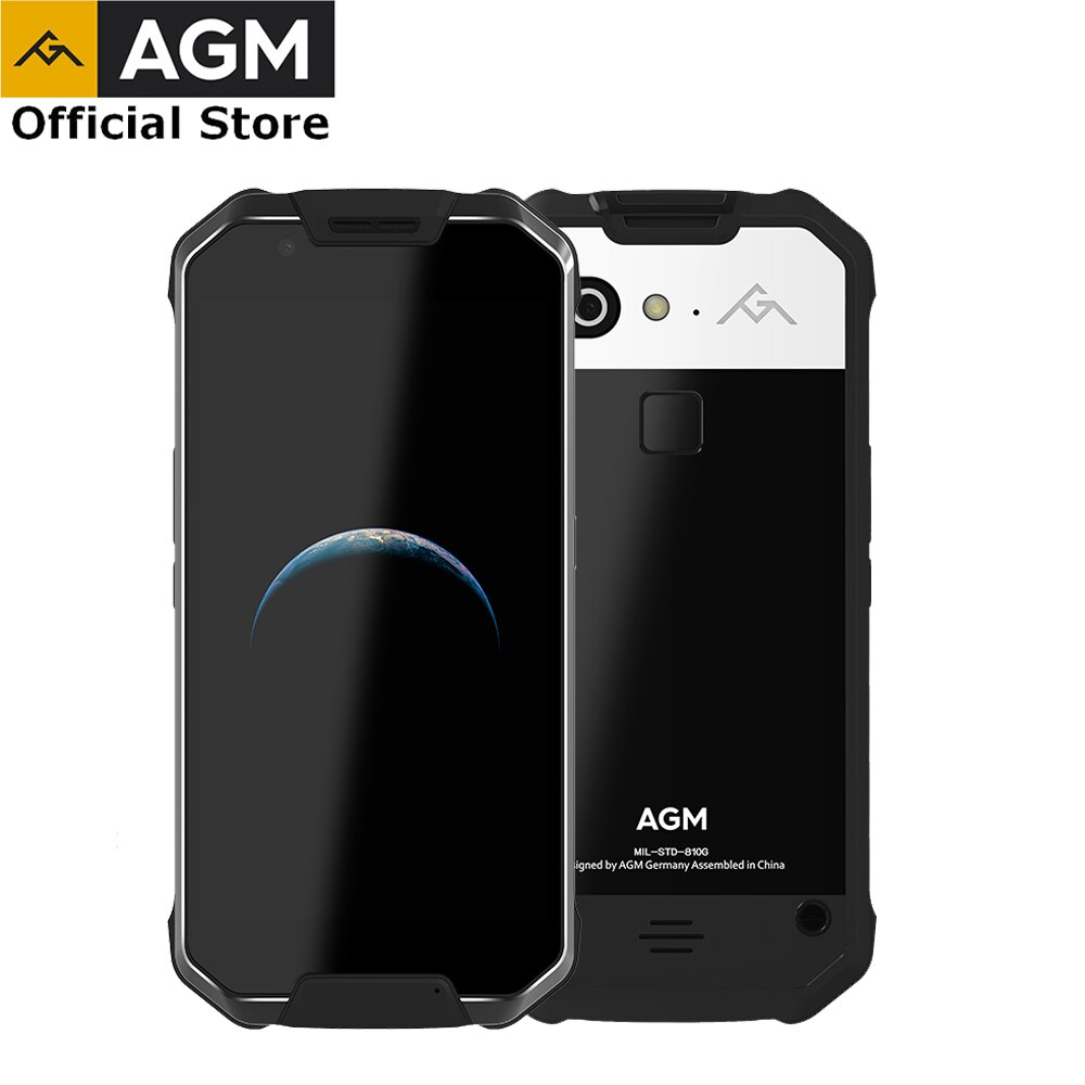 "OFFICIAL AGM X2 5.5""4G Smartphone 6G+64G/128GB Android 7.1 Mobile Phone IP68 Waterproof Octa Core 6000mAhNFC VOC"