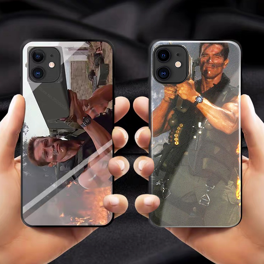 Arnold schwarzenegger cover case for iphone 11 pro machine gun terminator for iphone11 i phone 11 max 11max 2019 silicone coque