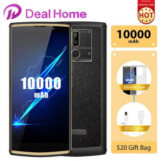 "OUKITEL K7 pro 6.0"" 18:9 Screen 10000mAh Battery Smartphone Android 9.0 MT6763 4GB RAM 64GB ROM Fingerprint Oukitel Mobile Phone"