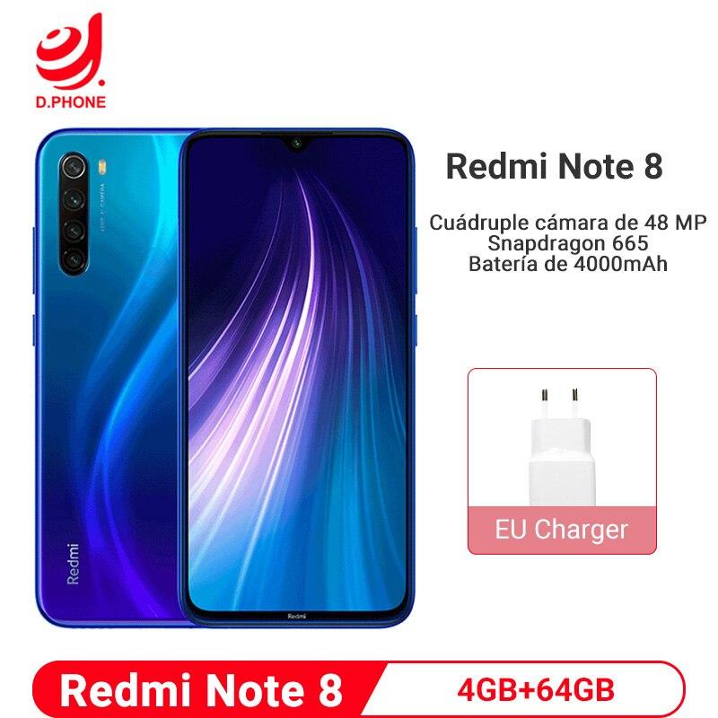 "Global Version Xiaomi Redmi Note 8 4GB 64GB 48MP Quad Camera Smartphone Snapdragon 665 Battery 6.3"" FHD Screen 4000mAh Battery"