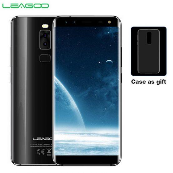 LEAGOO S8 Smartphone 5.72'' HD+ IPS 1440*720 Screen Android 7.0 MTK6750 Octa Core 3GB+32GB Quad-Cam Fingerprint 4G Mobile Phone
