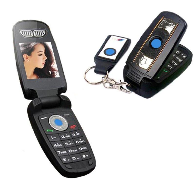 Unlock Flip Russian Key Greek Single Sim Small Special Mini Small Cell Mobile Phone BMW Car Key Cellphone X6