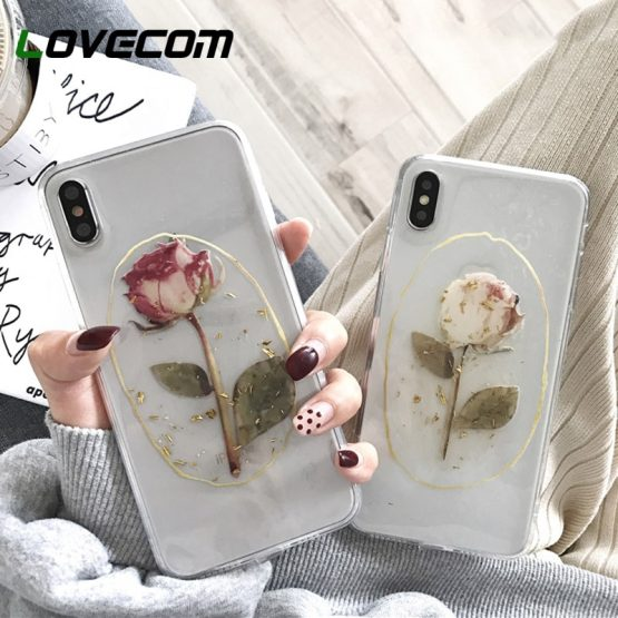 LOVECOM Vintage Flower Gold Powder Phone Cases For iPhone 11 Pro Max XS Max XR For iPhone 6 6S 7 8 Plus X Soft Back Cover Coque