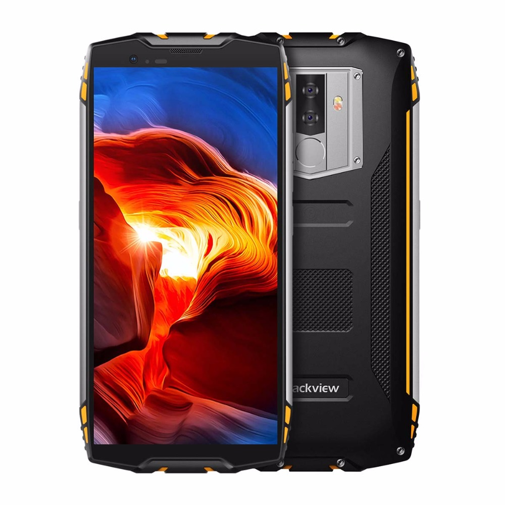 """Blackview BV6800 Pro IP68 Waterproof smartphone 4GB+64GB 5.7"""" 18:9 MT6750T Octa Core 16.0MP Android 8.0 6580mAh Wireless Charger"""