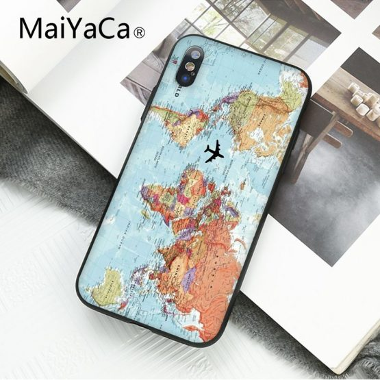 MaiYaCa Travel in the world map Plane plans Phone Case For iphone 11 Pro MaiYaCa Travel in the world map Plane plans Phone Case For iphone 11 Pro 11Pro Max 8 7 6 6S Plus X XS MAX 5 5S SE XR.