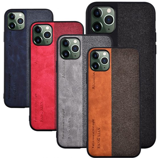 For Apple iphone 11 Case Luxury Soft Silicone edge+Hard Cloth texture protective Back Cover Case for iphone 11 Pro Max iphone11