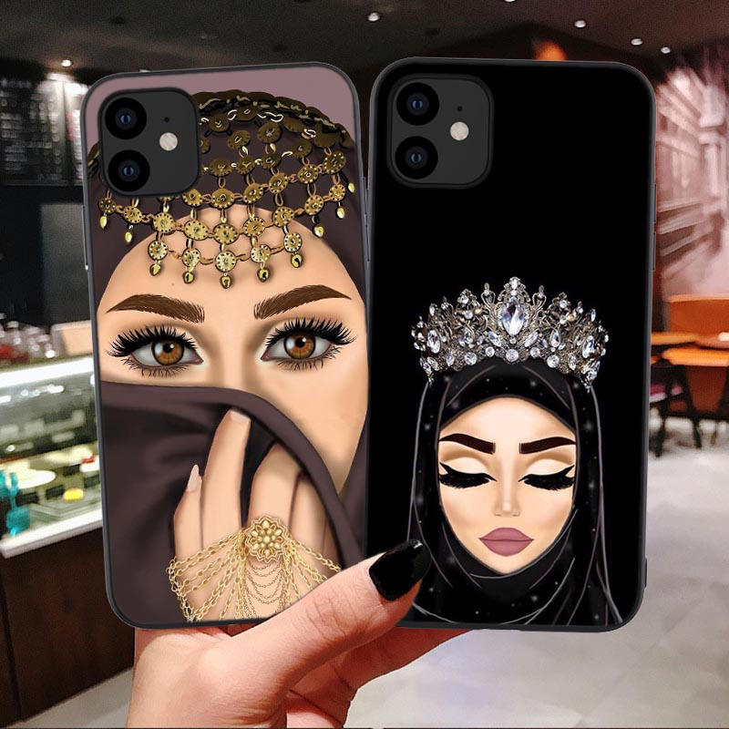Luxury Woman In Hijab Face Muslim Islamic Bible faith Gril Soft Case For iPhone 11 Pro Max 6 6s 7 8 Plus XS XR X Xs Max Cover