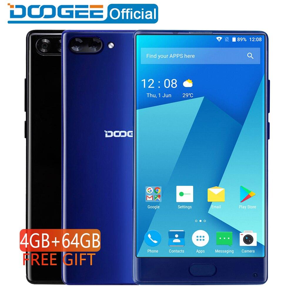 DOOGEE MIX 4GB+64GB bezel-less Smartphone Dual Camera 5.5'' AMOLED MTK Helio P25 Octa Core mobile phones