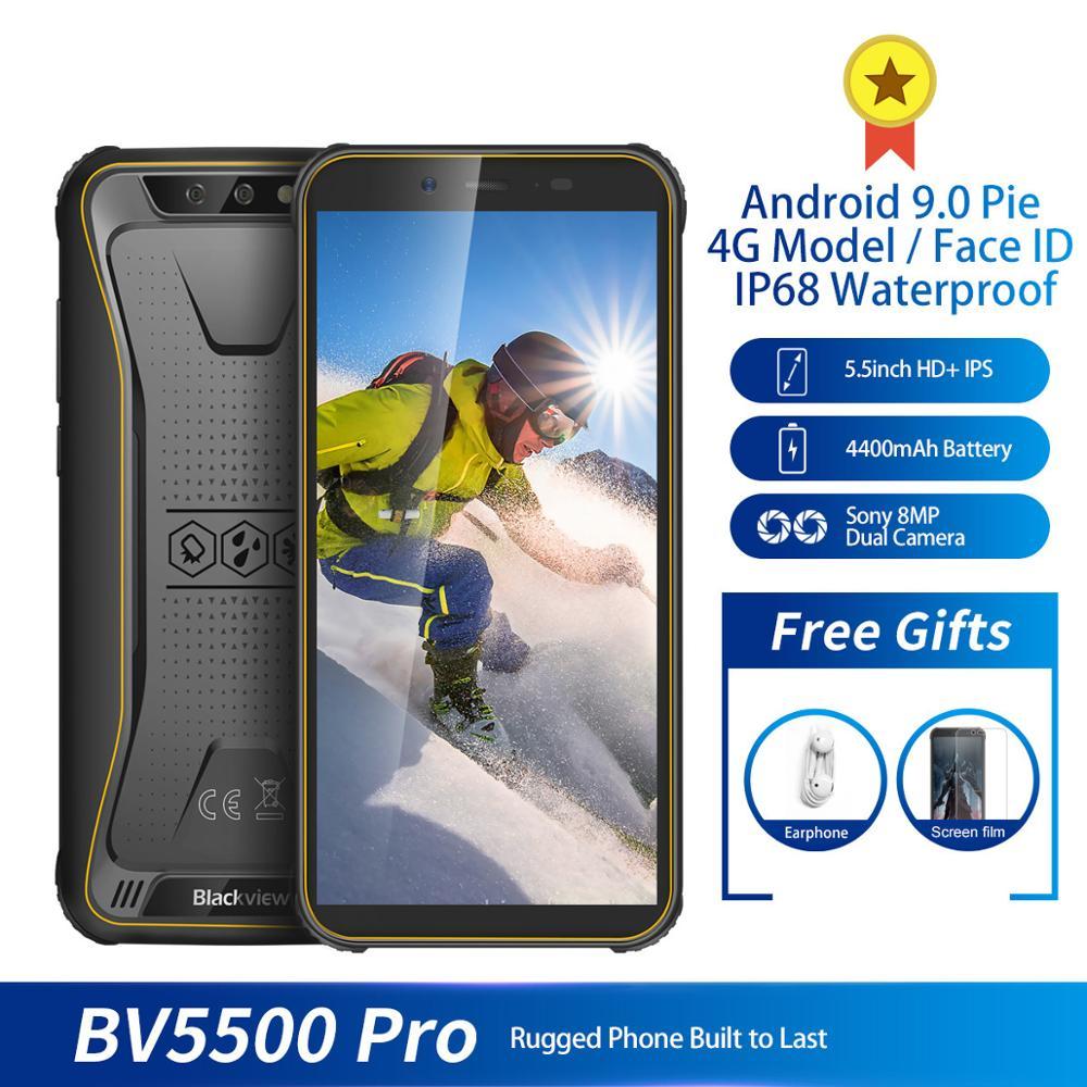 "Original Blackview BV5500 pro IP68 Waterproof 4G Mobile Phone 3GB+16GB 5.5""FHD 4400mAh Android 9.0 Rugged Smartphone"