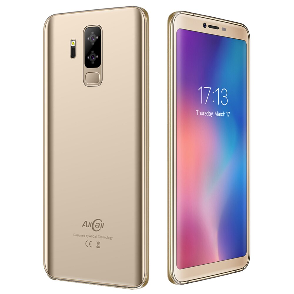 "5.99"" Smartphone 18:9 5500mAh Battery Android 8.1 Phone Quad Core 2GB RAM 16GB ROM 13.0MP 2MP Cameras Original AllCall S5500"