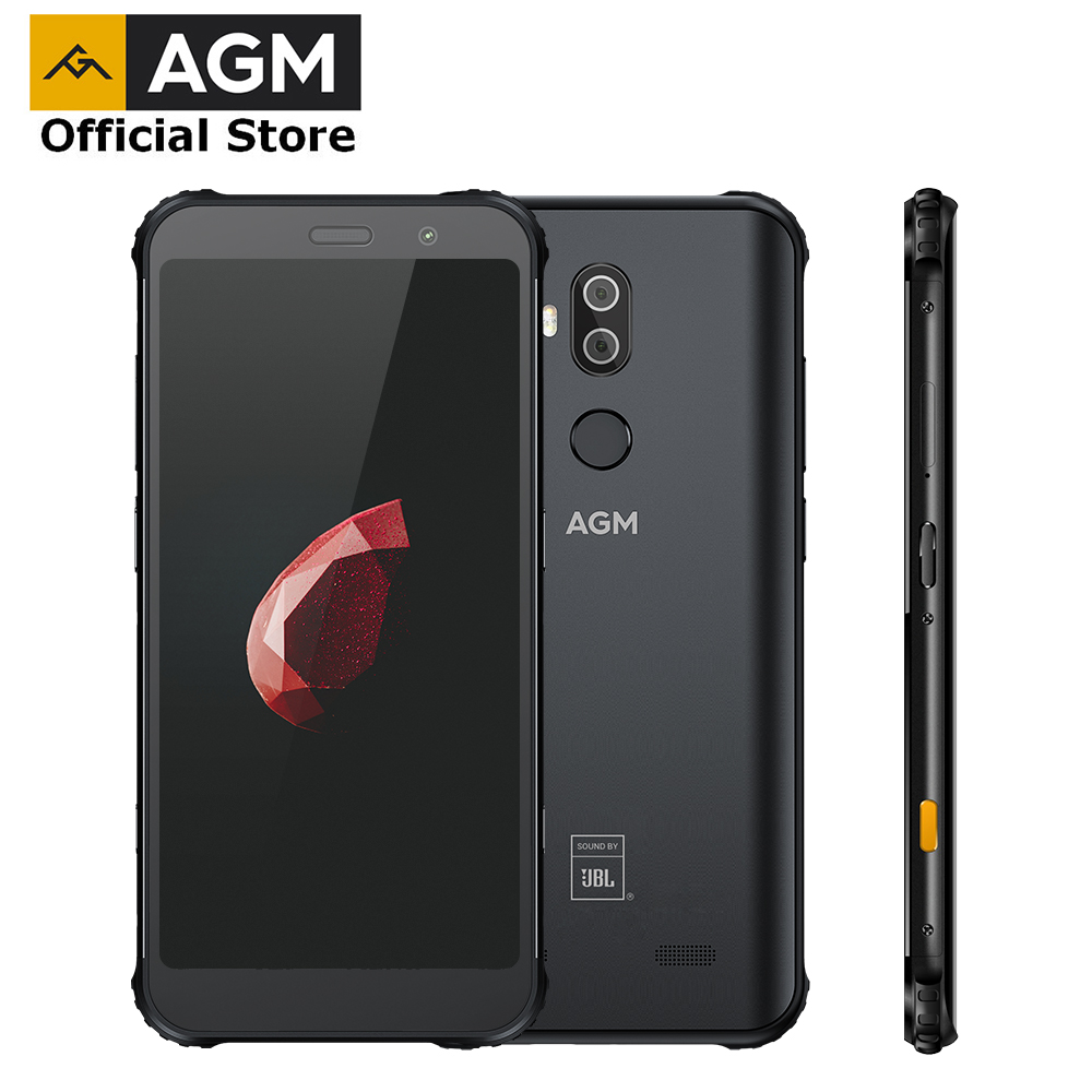 OFFICIAL AGM X3 JBL-Cobranding 5.99'' 4G Smartphone 8G+64G SDM845 Android 8.1 IP68 Waterproof Mobile Phone Dual BOX Speaker NFC