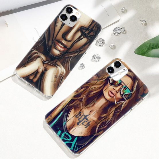 Hot Sexy Sleeve Tattoo Girl Soft Silicone Case for Apple iPhone 11 Pro XS Max X Hot Sexy Sleeve Tattoo Girl Soft Silicone Case for Apple iPhone 11 Pro XS Max X XR 6 6s 7 8 Plus 5 5s SE Fashion Cover.