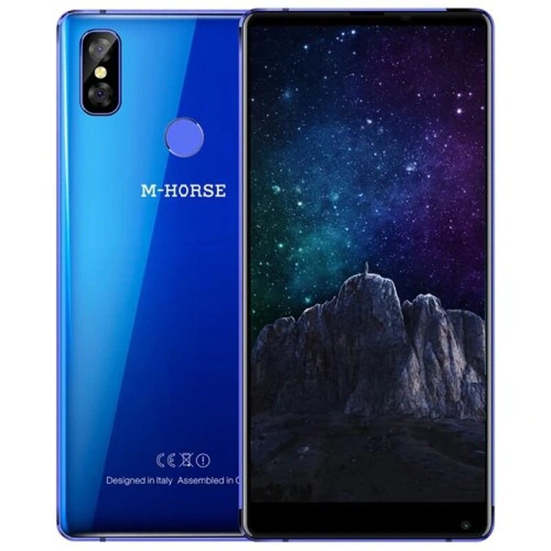 M-HORSE Pure 2 Smartphone 5.99''18:9 4GB RAM 64GB ROM Android 7.0 MTK6750 Dual Rear Cams 16.0MP+13MP 4G Cell Phones Fingerprint