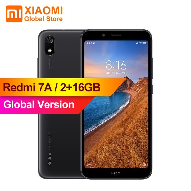 "Global Version Xiaomi Redmi 7A Red MI 7 A 2GB 16GB Smartphone Snapdargon 439 Octa Core 4000mAh AI Face Unlock 5.45"" 13MP Camera"