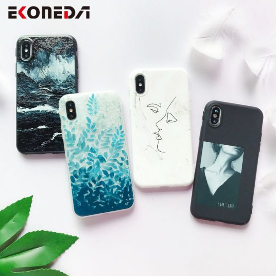 EKONEDA Soft TPU Phone Case For iPhone 6S Case Silicone Black Simple Scrub Back Cover For iPhone 7 6 8 XR XS Max 11 Pro Max Case