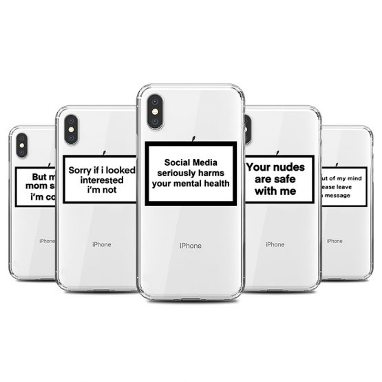 Funny Letter Phone Case for iPhone 11 8 7 6s Plus Pro X XS MAX XR Fitted Cases Fashion Soft Silicone TPU Back Covers Accessories