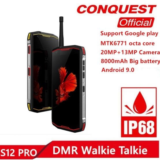 """S12 Pro IP68 Waterproof Rugged Smartphone 6GB+128GB 5.99"""" 8000mAh S12 Pro IP68 Waterproof Rugged Smartphone 6GB+128GB 5.99"""" 8000mAh Android 9.0 P70 Octa Core DMR Walkie Talkie Outdoor Cellphone."""