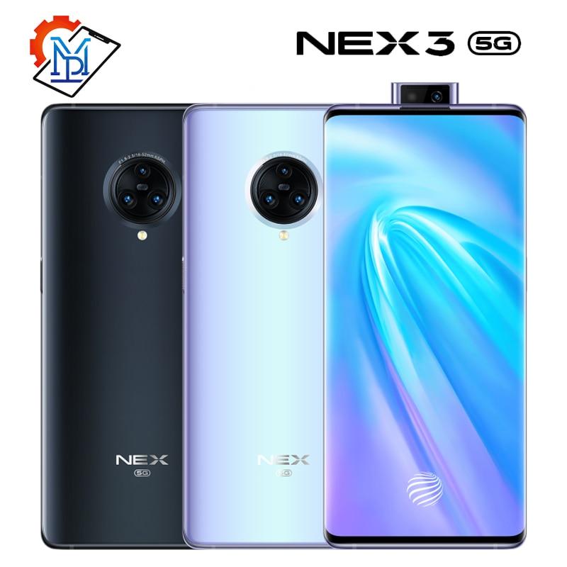 Vivo Nex 3 5G Mobile Phone 6.89 inch Screen 8GB+256GB Snapdragon 855 Plus Octa-core Android 9.0 Camera 64.0MP Smartphone