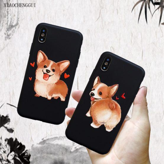 for iPhone 11 pro case Cute Corgi Sexy Cartoon Dog Ass for iphone for iPhone 11 pro case Cute Corgi Sexy Cartoon Dog Ass for iphone 5 6 S 7 8 Plus XS XR Max Black soft silicone TPU Mobile Cases.